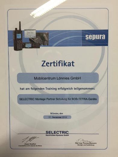 SELECTRIC_Zertifikat